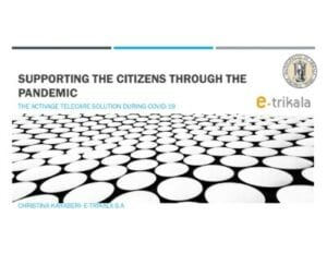 Telecare support for citizens through the pandemic