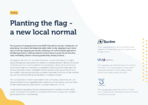 Planting the flag - a new local normal
